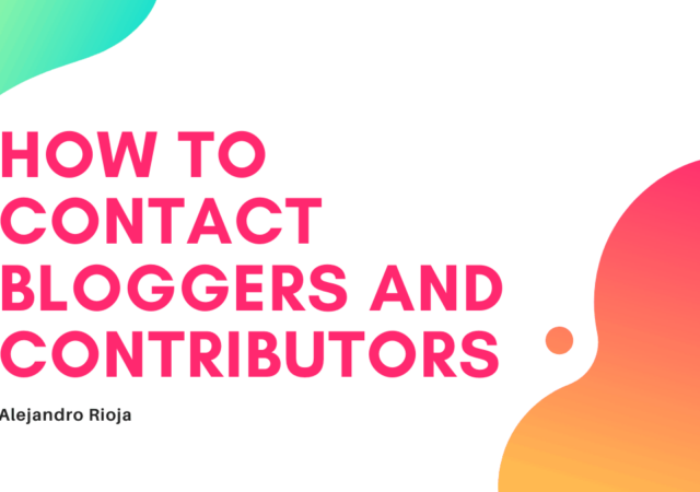 How to contact bloggers and Contributors