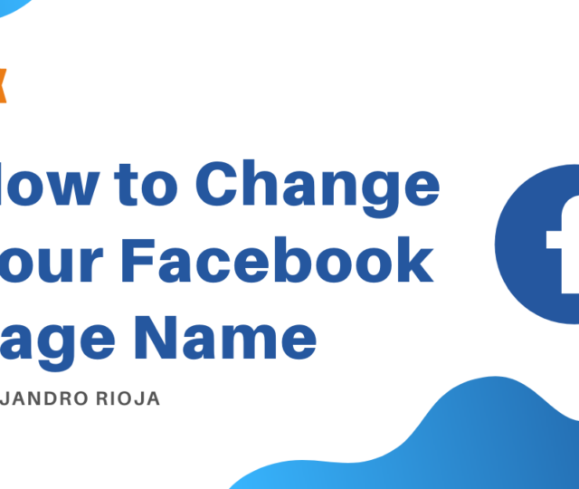 How to Change your Facebook Page Name