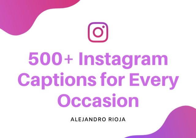 Instagram Caption examples